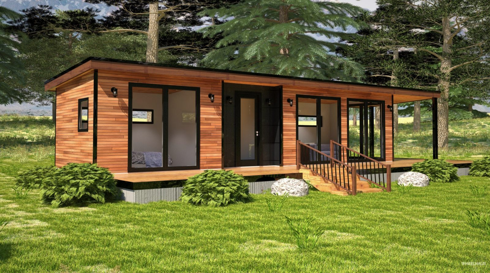 Light Haus Park Model Home Wheelhaus Luxury Rolling Cabins