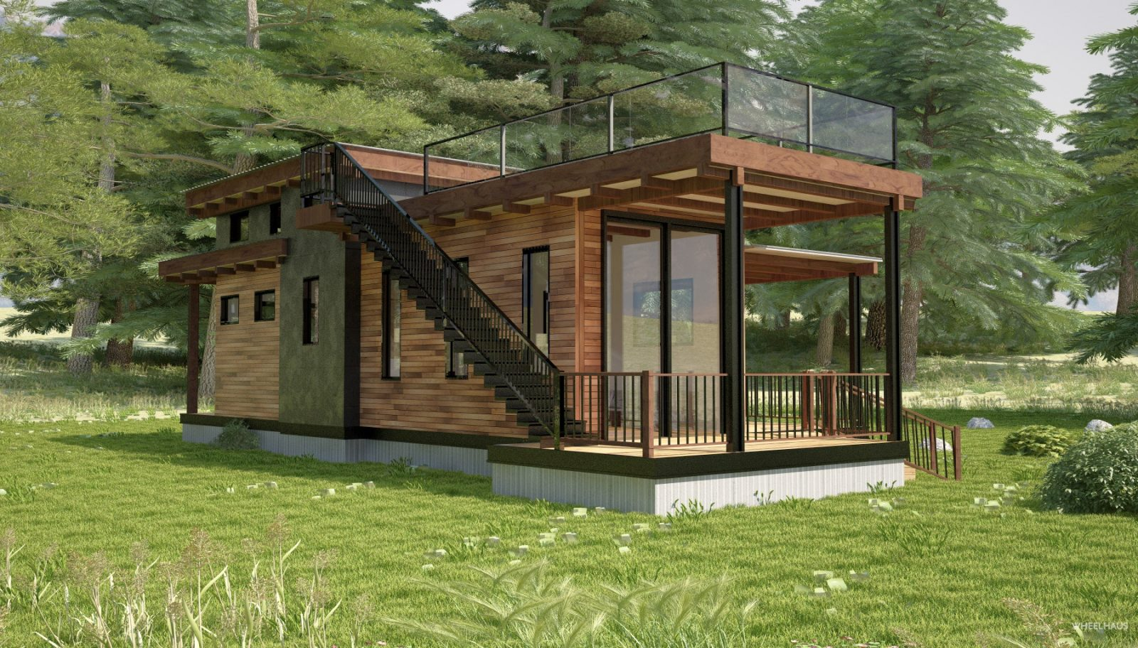 Flat Roof Caboose